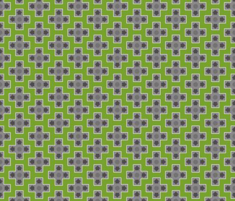 D-Pads in Dark Green fabric by ilikemeat on Spoonflower - custom fabric