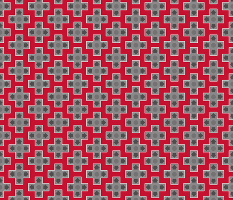 D-Pads in Red fabric by ilikemeat on Spoonflower - custom fabric