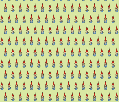 gnomes (green) fabric by melbrooks on Spoonflower - custom fabric