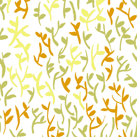 Leaves fabric by susan_magdangal on Spoonflower - custom fabric