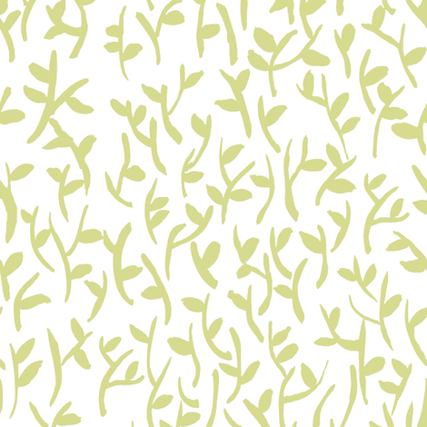 Leaves Light fabric by susan_magdangal on Spoonflower - custom fabric