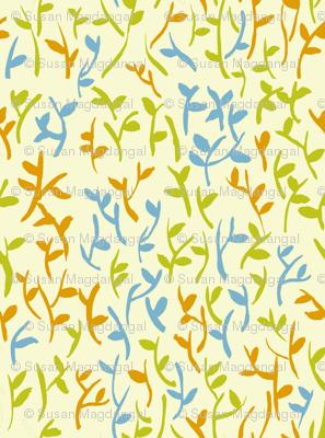 Leaves Beige