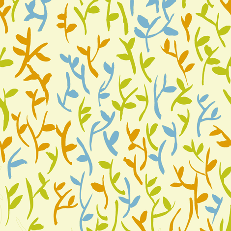 Leaves Beige fabric by susan_magdangal on Spoonflower - custom fabric