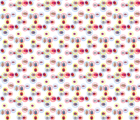 Bubble Beetles fabric by robin_rice on Spoonflower - custom fabric