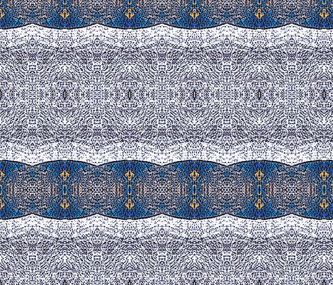 blue stripe and lace fabric by dk_designs on Spoonflower - custom fabric