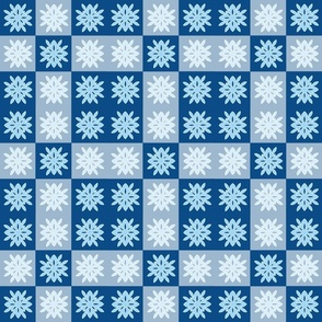 Snowflake Cheater Quilt