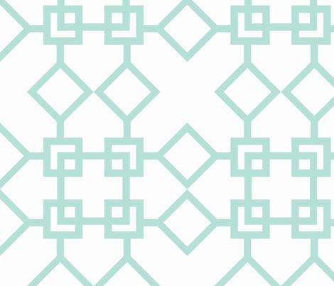 Climb the Trellis Minty fabric by honey&fitz on Spoonflower - custom fabric