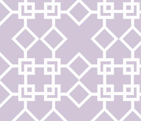 Climb the Trellis Wisteria Reverse fabric by honey&fitz on Spoonflower - custom fabric