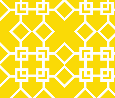 Climb the Trellis Sunshine Reverse fabric by honey&fitz on Spoonflower - custom fabric