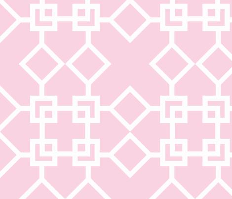 Climb the Trellis Blossom Reverse fabric by honey&fitz on Spoonflower - custom fabric