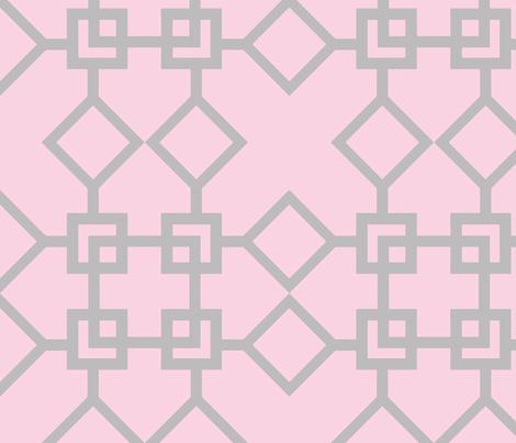 Climb the Trellis Blossom & Chinchilla fabric by honey&fitz on Spoonflower - custom fabric