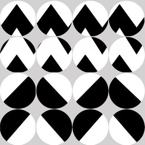 Bold Black and White Button Covers- chevrons