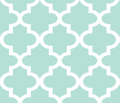 Quatrefoil Minty fabric by honey&fitz on Spoonflower - custom fabric