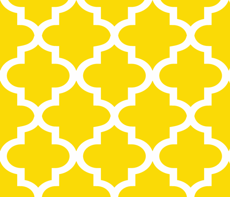 Quatrefoil Sunshine fabric by honey&fitz on Spoonflower - custom fabric