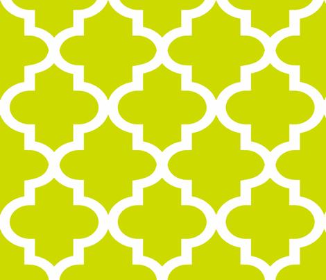 Quatrefoil Lime fabric by honey&fitz on Spoonflower - custom fabric