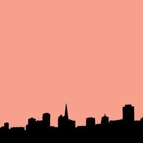 City Scape Peach