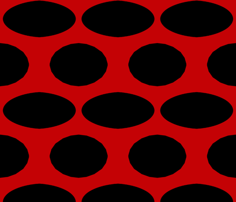 Red and Black Swiss Cheese  fabric by anniedeb on Spoonflower - custom fabric