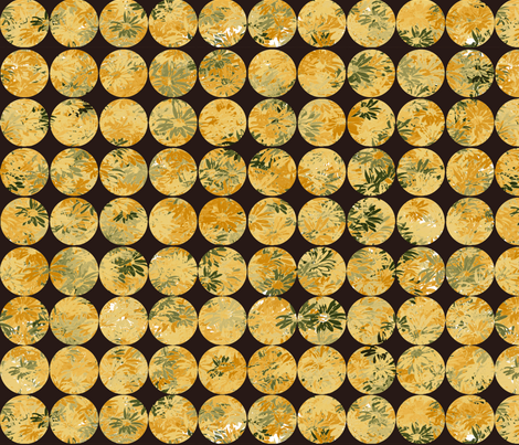 Button Covers- Butternut Daisies fabric by wren_leyland on Spoonflower - custom fabric