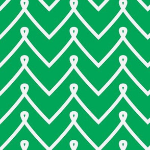 Green Curly Chevron Pattern