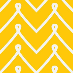 Yellow Curly Chevron Pattern