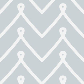 Silver Curly Chevron Pattern