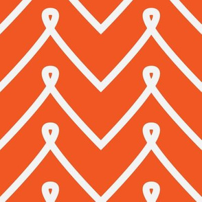 Orange Curly Chevron Pattern