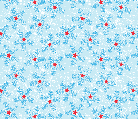 Star_SnowFlakes fabric by yenty_jap on Spoonflower - custom fabric