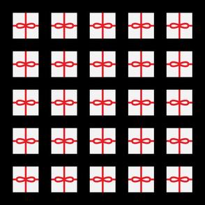 Black Present Pattern