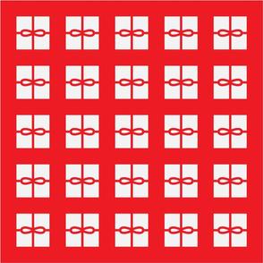 Red Present Pattern