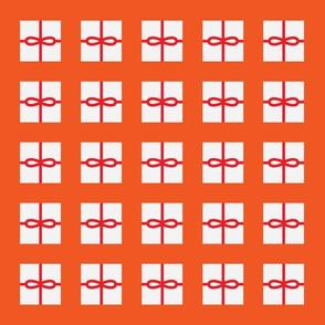 Orange Present Pattern