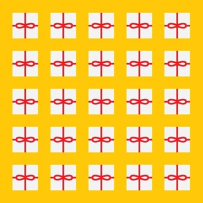Yellow Present Pattern