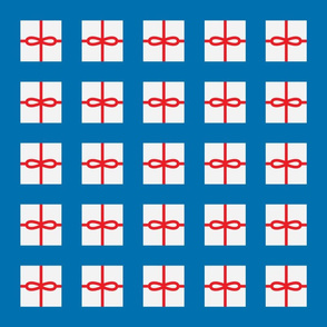 Blue Present Pattern