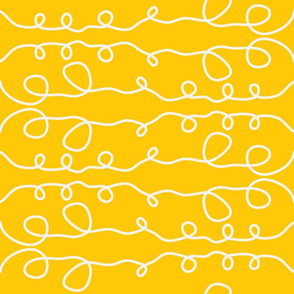 Yellow Curly Line Pattern
