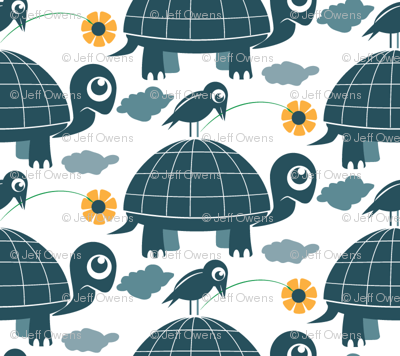 Bird, Flower and Tortoise