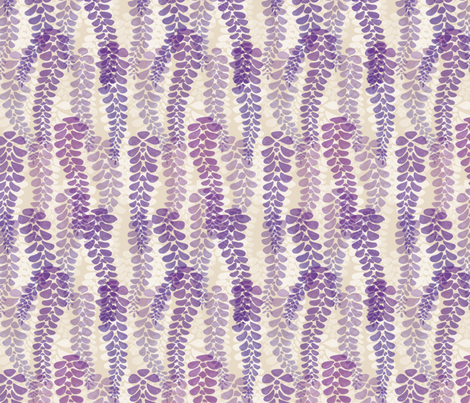 Hanging Wisteria fabric by hugandkiss on Spoonflower - custom fabric
