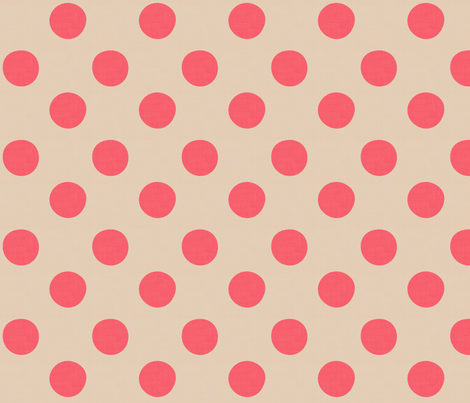 Midsummer Dots Coral fabric by hugandkiss on Spoonflower - custom fabric