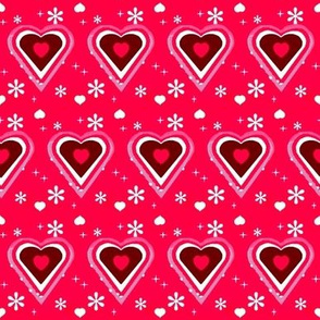 pink and white hearts