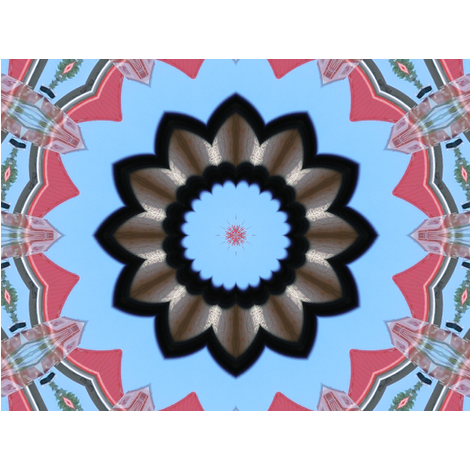Kaleidescope 0209 fabric by wyspyr on Spoonflower - custom fabric