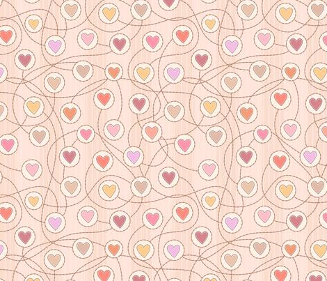 Heart to heart fabric by stewsha on Spoonflower - custom fabric