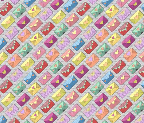 hearts_on_grey fabric by stewsha on Spoonflower - custom fabric