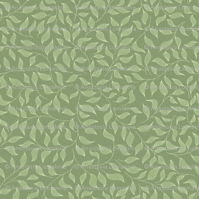 Green striped leaves