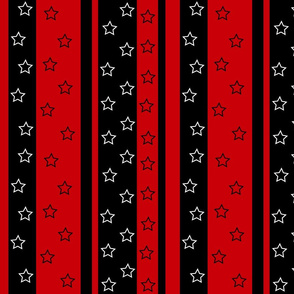 stars & stripes on red background