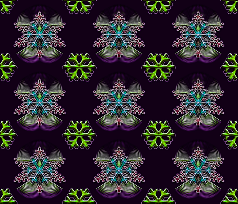 Snowflakes and Snow Angels  fabric by cutelilbutterfly on Spoonflower - custom fabric