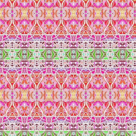 Happy Persian Horizontal Stripe fabric by edsel2084 on Spoonflower - custom fabric