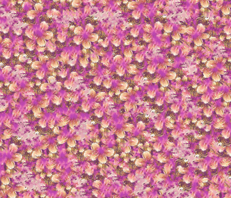 Florafab Wallpaper fabric by cutelilbutterfly on Spoonflower - custom fabric