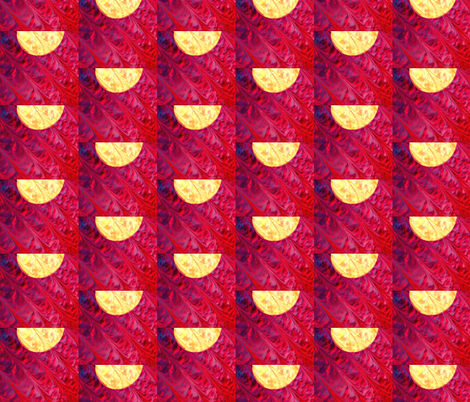 Half Moon at a Half Drop fabric by anniedeb on Spoonflower - custom fabric