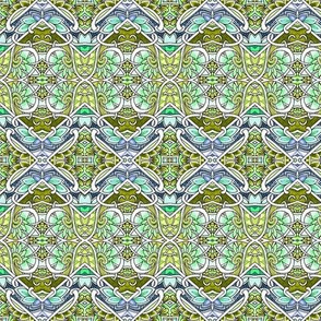 A Patch of Spring Garden (zig zag patchwork blocks of green)