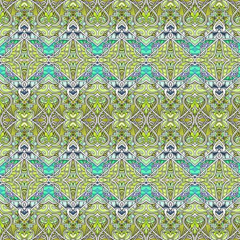 Zig Zag Gothic Green Mist Valentine (horizontal stripe) fabric by edsel2084 on Spoonflower - custom fabric