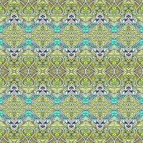 Zig Zag Gothic Green Mist Valentine (horizontal stripe)