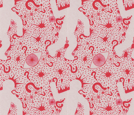 Who dunnit?? fabric by katiame on Spoonflower - custom fabric